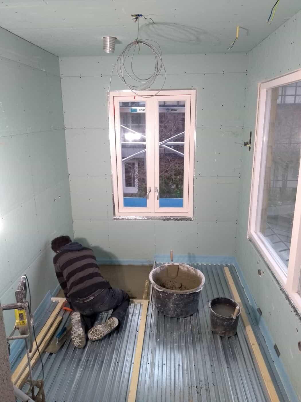 Badkamervloer storten verbouwing Den Haag