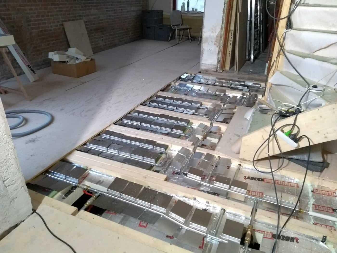Deria vloerverwarmingssyteem verbouwing Den Haag
