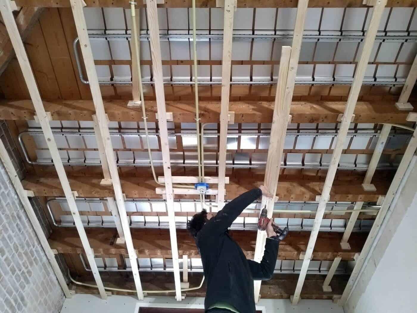 Deria vloerverwarmingssyteem verdiepingsvloer (van onder gemonteerd) verbouwing Den Haag