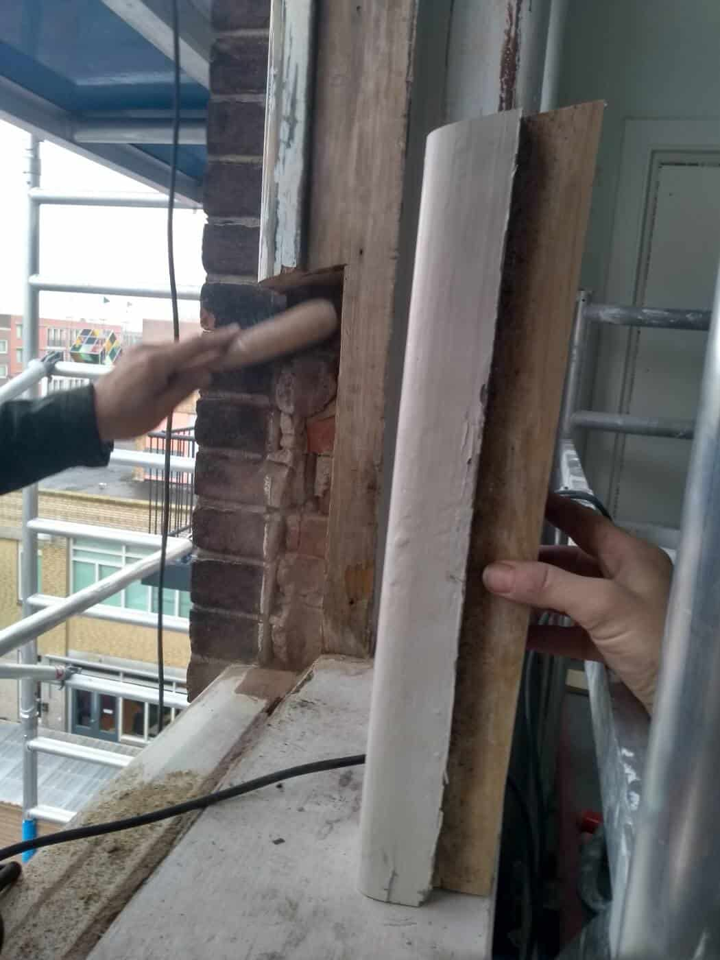 Houten kozijnreparatie houtrotherstel Den Haag